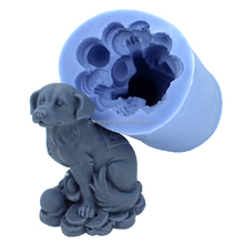 R1114 FDA customized 3D Chinese 12-animal theme dog shape silicone craft/candle/soap mold