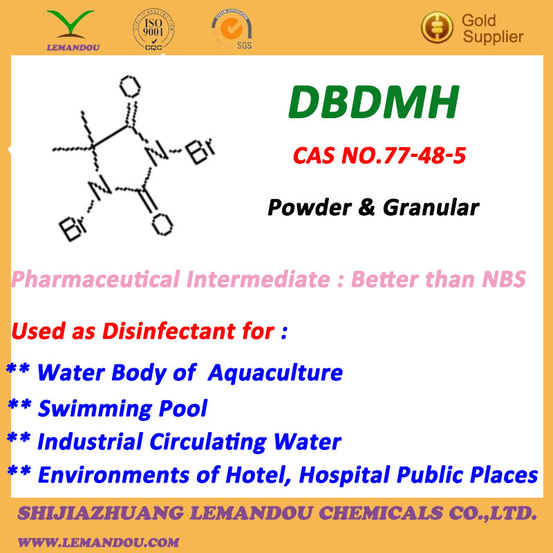 DBDMH, Yellow crystal powder,Excellent selective brominating agent
