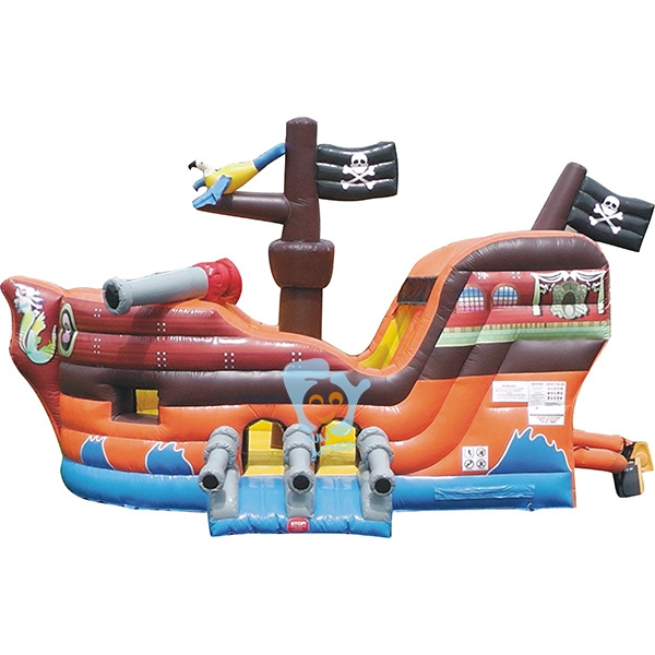 giant pvc tarpaulin inflatable pirate ship pool slide for sale