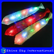 New Design Sequin Led Bow Tie/Flashing Tie