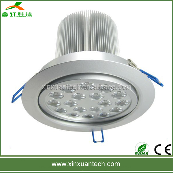High power ip45 led recessed ceiling lighting 12w 15w 18w 20w 24w 36w round downlight