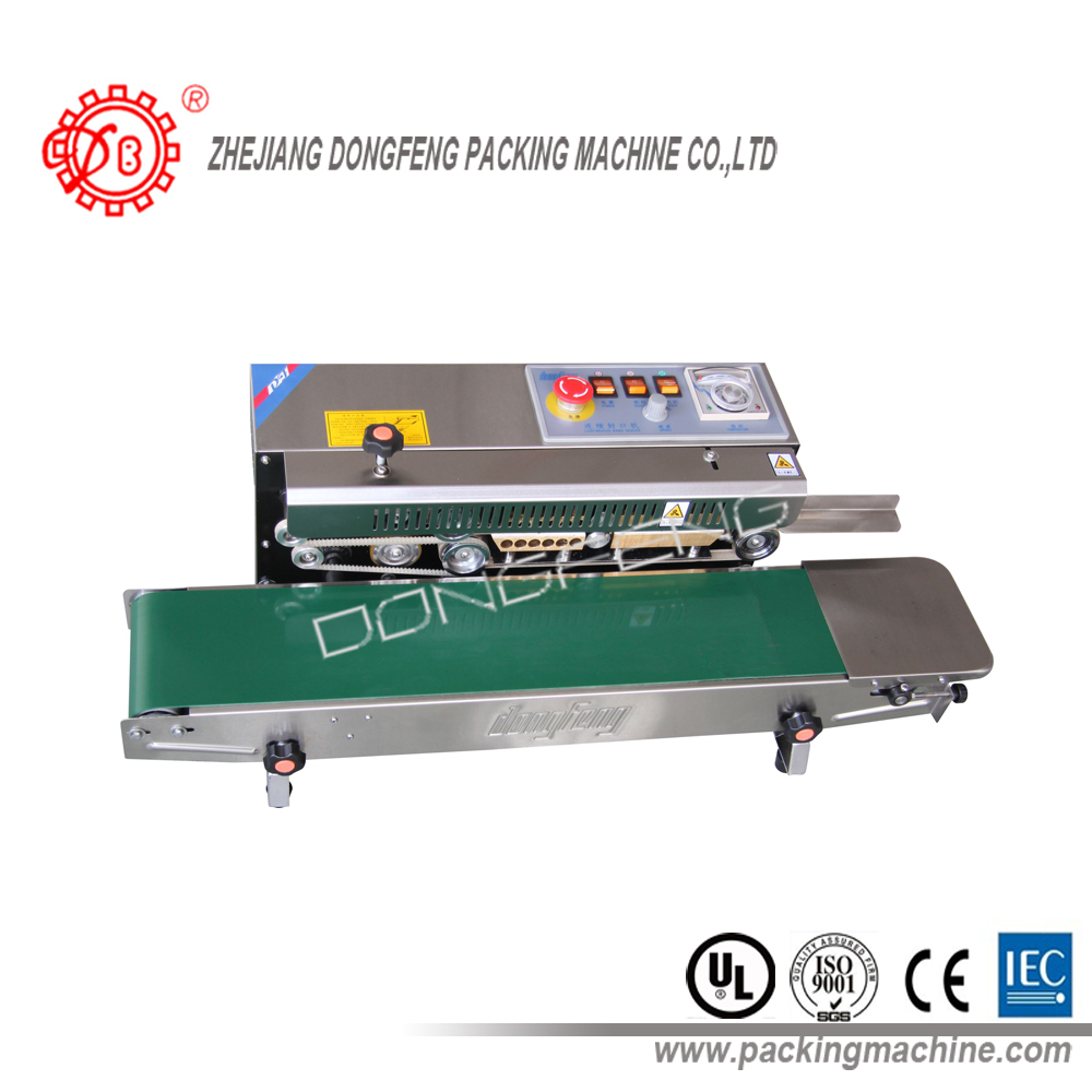 stainless steel continuous plastic film heat sealer made in china DBF-770W