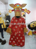 2014 Customized Made New Year Horse Mascot Costumes