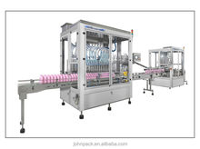 Hot high viscous (laundry detergent,shampoo and hand wash) liquid automatic filling and capping machine production line