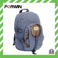 2015 New Custom student backpack Cotton Canvas bag