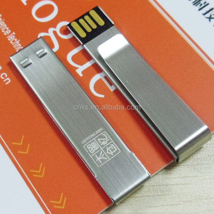 free sample promotion money clip usb flash drive
