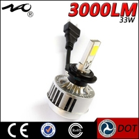 wholesale 33W 3000lm white/yellow color car led headlight 9004 7 hid xenon bulb