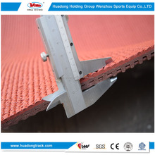 High performance indoor&outdoor use athletic flooring recyclable rubber running track surface