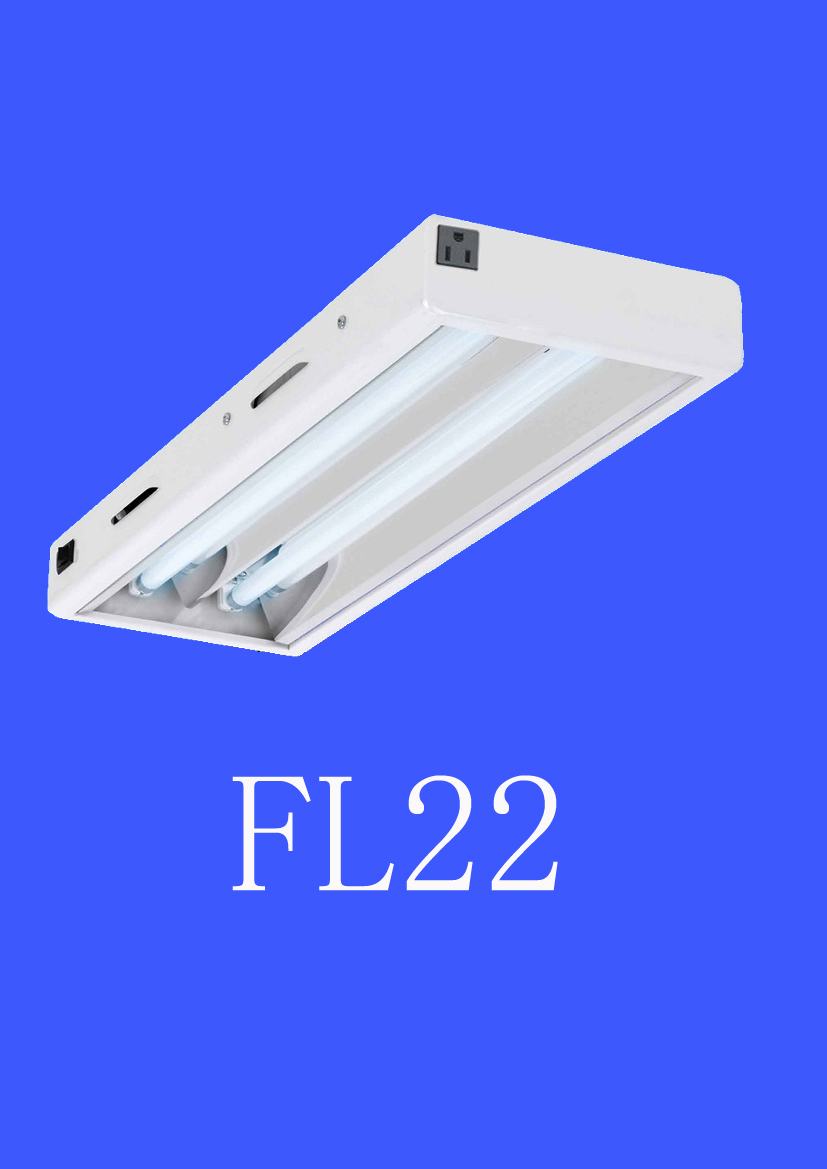 Indoor Garden Horticultural 2feet 24W 2Bulb T5 HO Fluorescent Hanging Linear Aluminum Grow Light Fitting Fixture