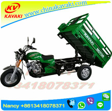 Three Wheels Motorcycle Gas Tricycle 150cc Cargo Motor Cycle 1.2m*1.8m Van Cargo Tricycle