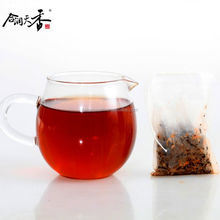 Chinese fresh taste rose ripe pu'er bagged tea
