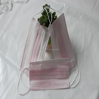 Cheap sample free disposable 3ply pink medical face mask for wholesale