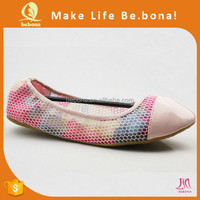 Hot summer new product breathable mesh fabric flexible ballet shoes foldable