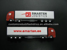 High Quality OEM Truck Shape PVC USB Key For Corporate Gifts