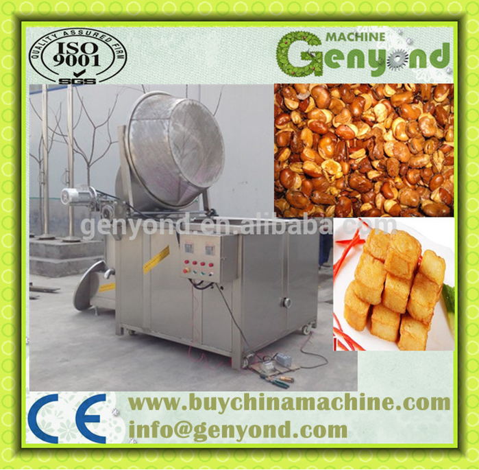 peanut deep fryer machine/continuous chicken fryer/nuggets frying machine