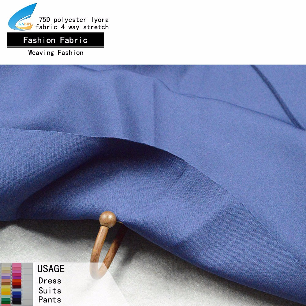4 way stretch polyester spandex suit fabric wholesale