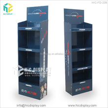 Foldable corrugated cardboard display showcase