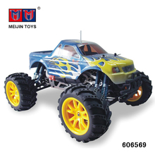 High speed 1/10 4 big wheel Rtr 4wd china petrol gas rc car for sale