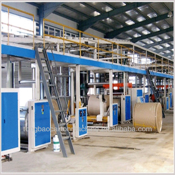 5-1600-100 model 5 layer high speed corrugated cardboard production line