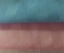 "wholesale 110"" extra wide 100% cotton sateen stripe fabric for making bed sheets in roll , hotel bedding fabric"