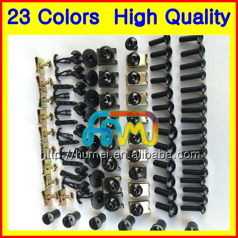 Fairing bolts full screw kit For SUZUKI GSXR600 GSXR750 08 09 10 GSXR 600 K8 GSX R600 2008 2009 2010 Motorcycle bolt screws Nuts