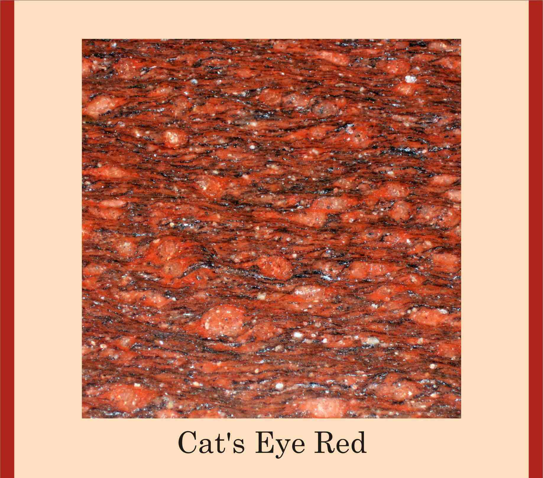 Granito rojo ojo de gato granito identificaci n del for Granito color rojo