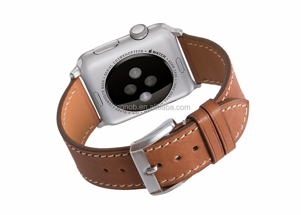 For Iwatch Watch Strap Gunine Calf Leather Bracelet For 42mm Apple Watch Band