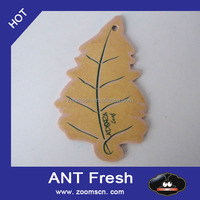 customized shape Promotional Logo Printed Hanging Paper Car Air Freshener