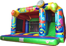 3in1 Lets Party Inflatable bounce area,bouncy castle slide combo