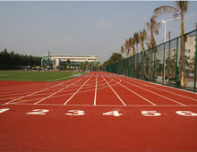Environmental tartan track for sport stadium field