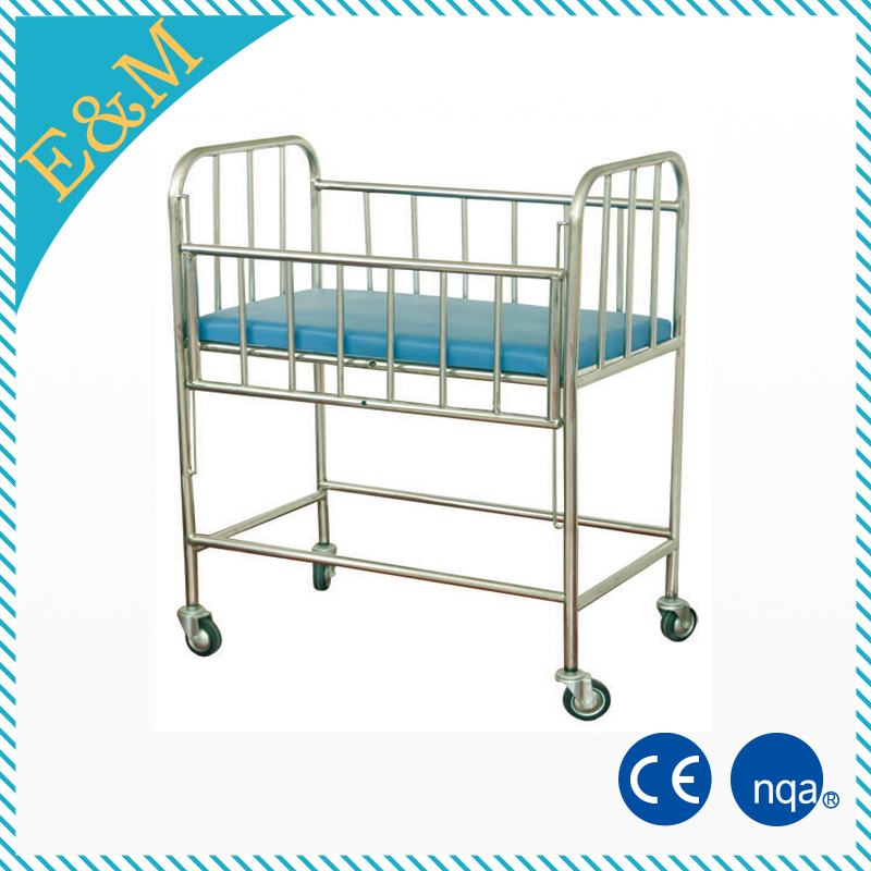 Hospital adult baby crib adjustable