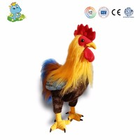 2017 new year realistic chicken farm animal toy stuffed kids toy for sale