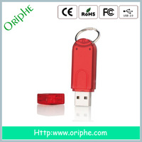 2014 Promotion free logo glass usb flash drive in 512mb