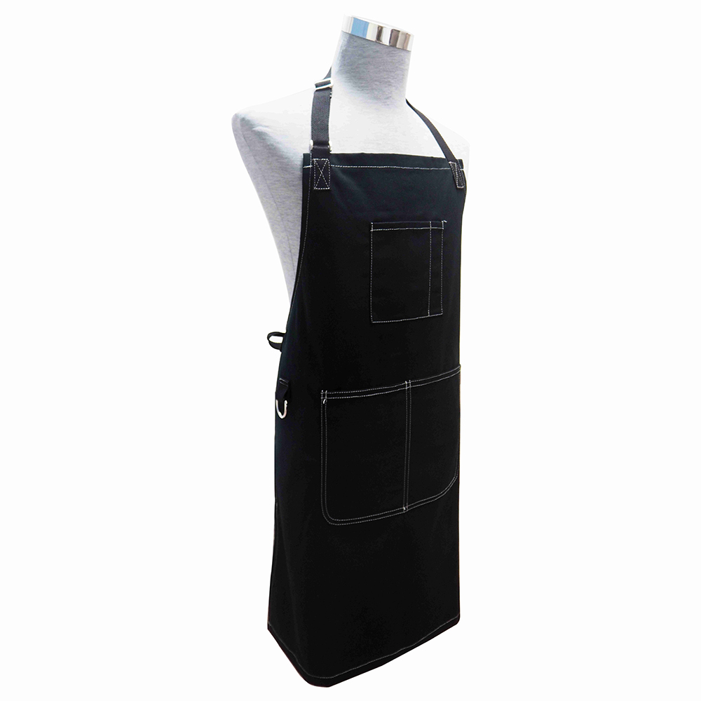 Professional Chef Apron for Kitchen, BBQ, and Grill (Black)apron with pocket,Adjustable apron