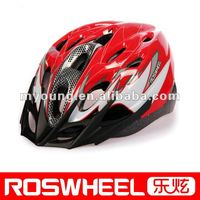 Adult out-mold cycle helmet with flashing LED light