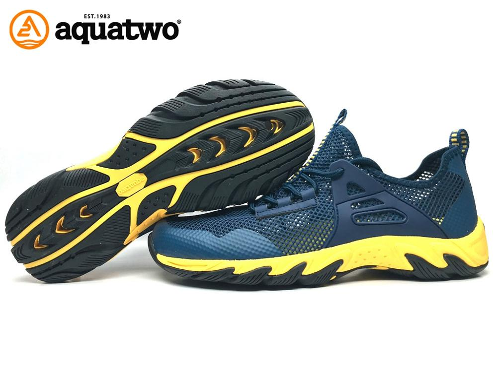 2017 New Design Aquatwo Brand Quick Dry Mesh Slip on Water Shoes