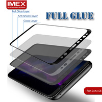 Accept OEM For samsung Galaxy s8 tempered glass screen protector hot bending Multi color 3D curved s8 japanese asahi tempered