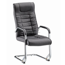 Cheap italian metal synthetic leather executive office chair without wheels