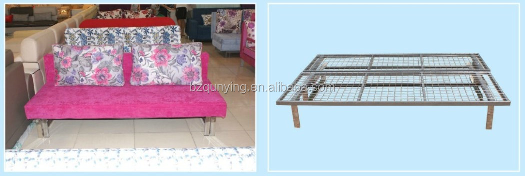 Top-rate two fold all metal structure sofa bed frame without mattress