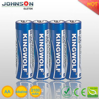 LR6 1.5v high quality kingwolf disposable alkaline dry battery