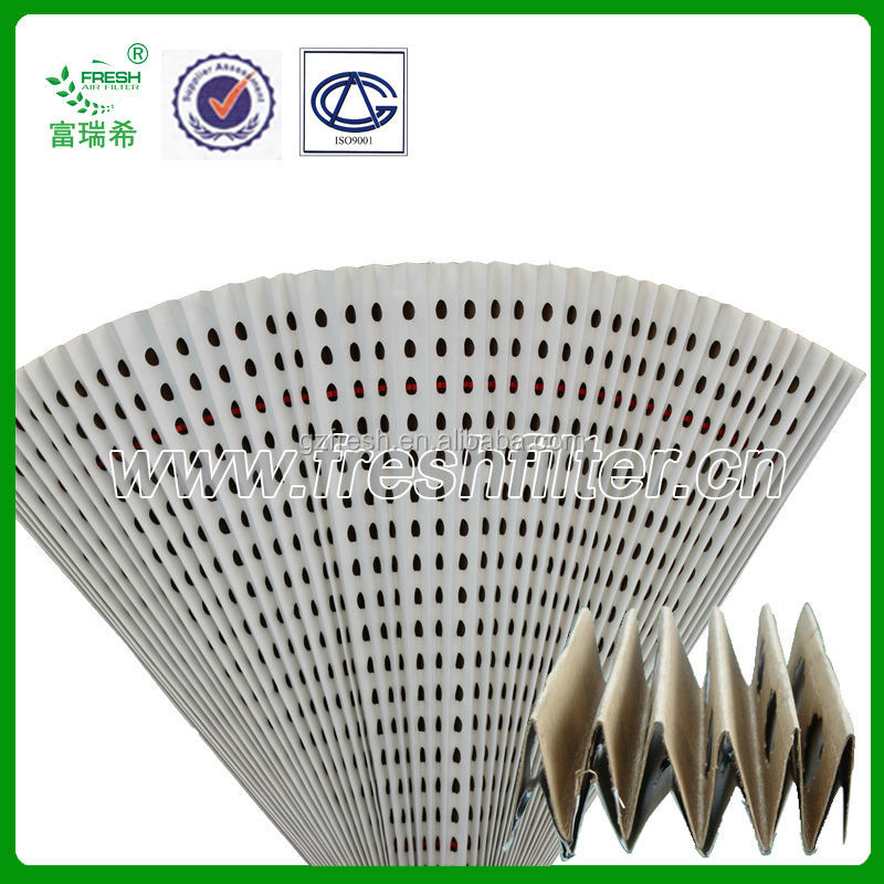 Folded dry-type filter paper for furniture spray booth paint booth (manufacture)