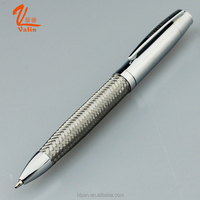 Unique design stainless steel wire braid metal pen best promotional ball pen for company
