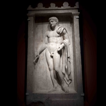 Famous wall art stone nude man relief sculptures