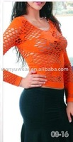 hot sexy image women mesh seamless long sleeve tops