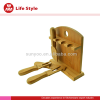 Convenient to cook kashkaval cheese.Bamboo Cheese Tool Set