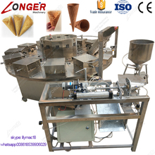 Commercial Sugar Ice Cream Cone Rolling and Baking Machine Rolled Sugar Cone Machine For Sale