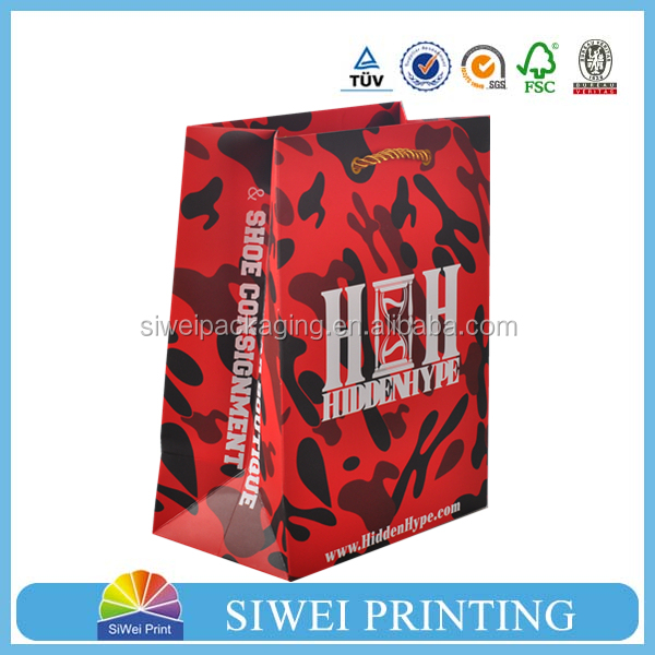 2016 Made in China Factory Professional Colorful Promotional paper gift bag packaging companies for essential oil