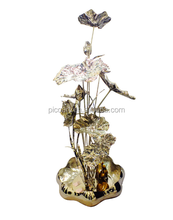 morden flower polished sculpture handmade sculpture for home decoration