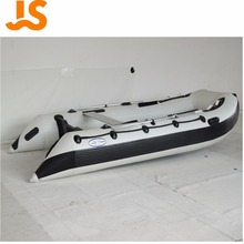 Whitewater hot sail cheap PVC/Hypalon 3.8m aluminium floor inflatable racing/ fishing river rafting boat price White JSD-380AL