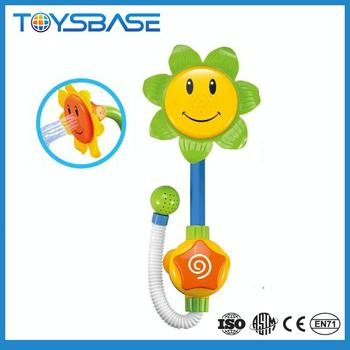 Sunflower baby shower water pipes squirting baby bath toys